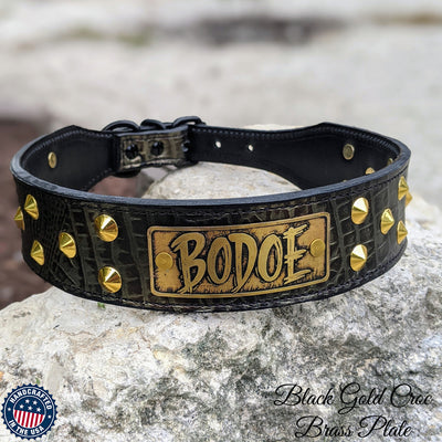 "3"" Wide Leather Dog Collar"