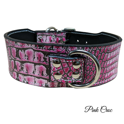 "X1 - 3"" Wide Leather Dog Collar"
