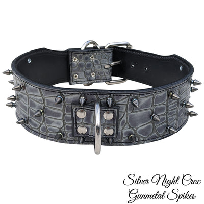 "J10 - 2 1/2"" Spiked Leather Dog Collar"