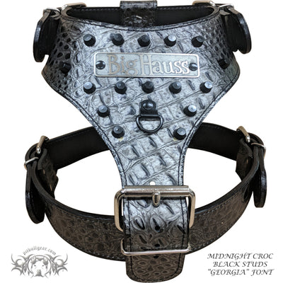 NH11 - Name Plate Dog Harness w/ Bucket Studs