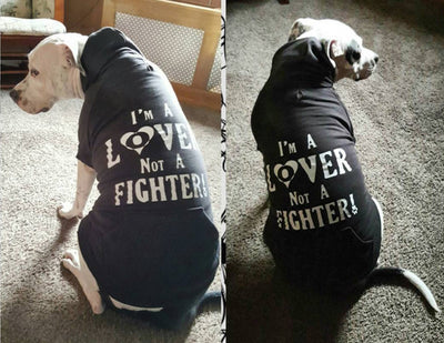 I'M A LOVER NOT A FIGHTER - ZIPPER DOG HOODIE