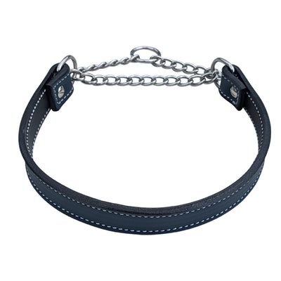 LM3 - Leather Martingale Collar (no buckle) - 1""