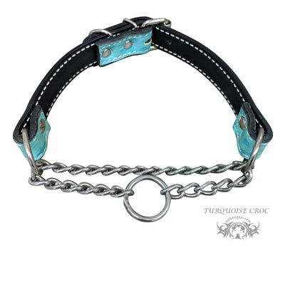 LM1 - Leather Martingale Collar - 1""