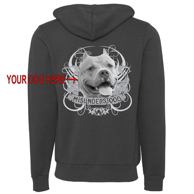 MISUNDERSTOOD V - CUSTOM ZIPPER HOODED SWEATSHIRT (Multiple Colors)