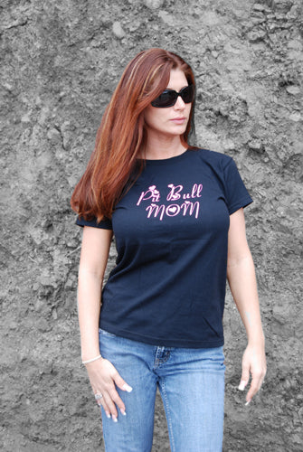PIT BULL MOM - WOMEN'S TEE & TANK