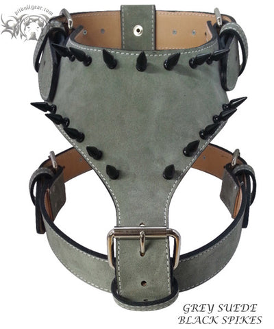 Y05 - Spiked Leather Dog Harness - 3