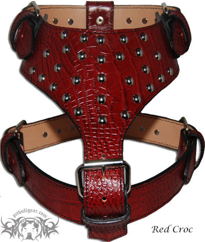 Y20 - Studded Leather Dog Harness - 6