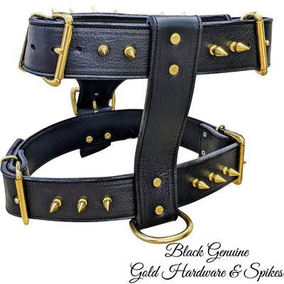 Y51 - Spiked Leather Dog harness