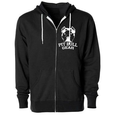 PIT BULL GEAR LOGO - ZIPPER HOODED FLEECE (Multiple Colors)