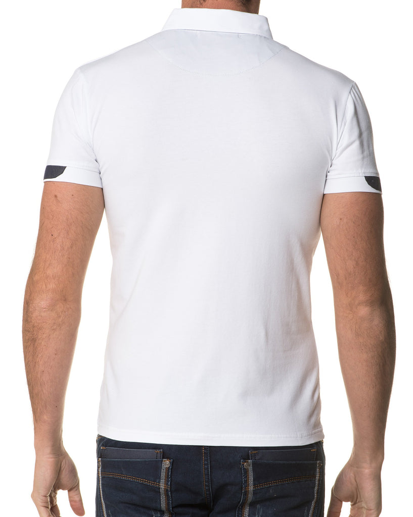 Chemisette Homme Style Polo Blanche