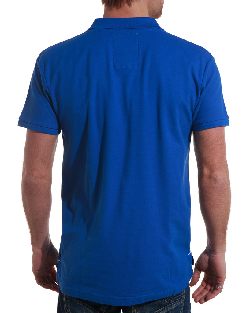 Polo homme bleu royal broderies tendances