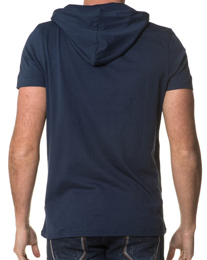 T-Shirt Navy Col Original Homme