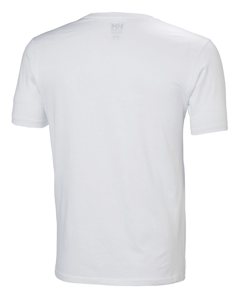 T-shirt blanc homme 33979 col rond
