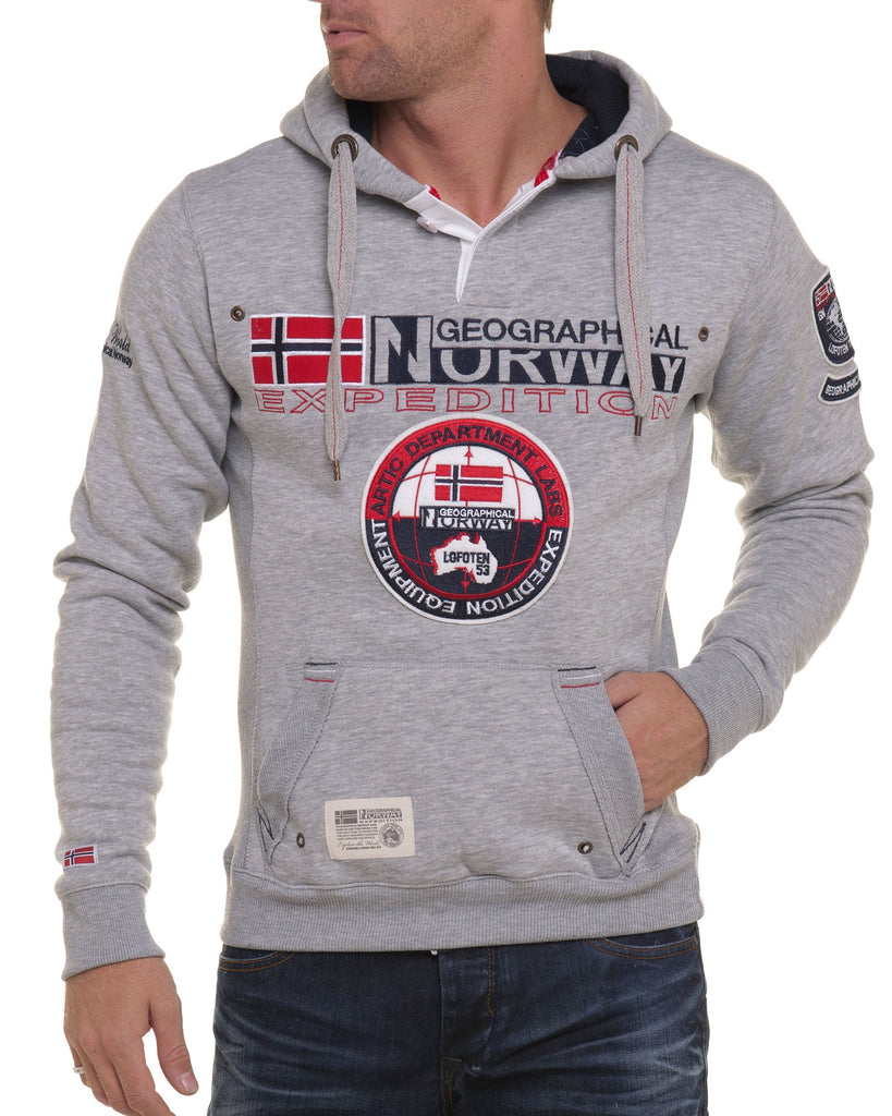 Sweat homme Geographical Norway tendance gris