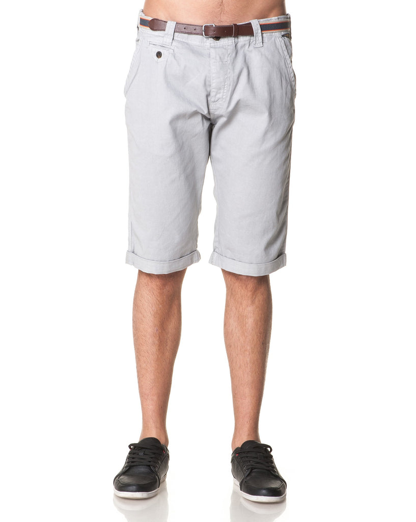 Bermuda Chino Boutonné Homme Gris