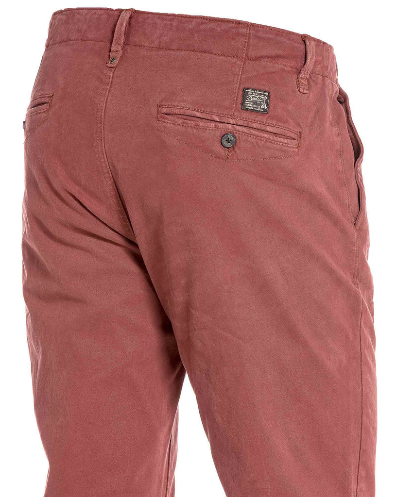Pantalon homme chino bordeau détente