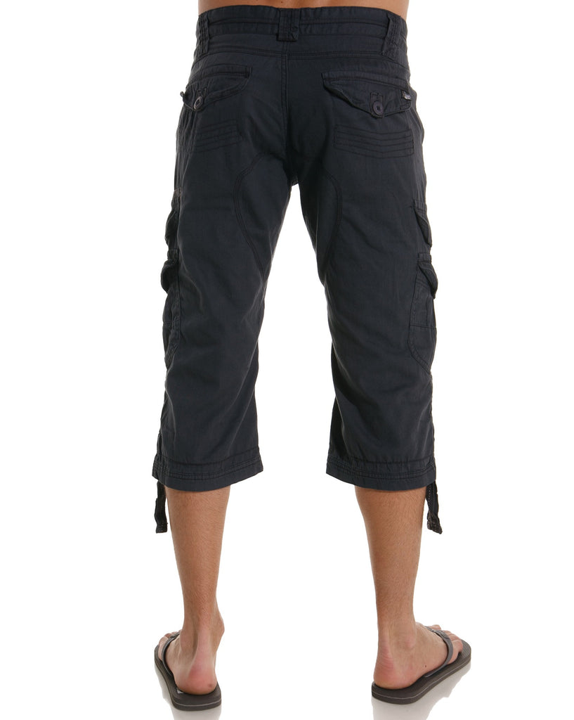 Pantacourt gris anthracite homme multipoches fashion