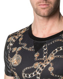 T-Shirt Motifs Chaines Homme