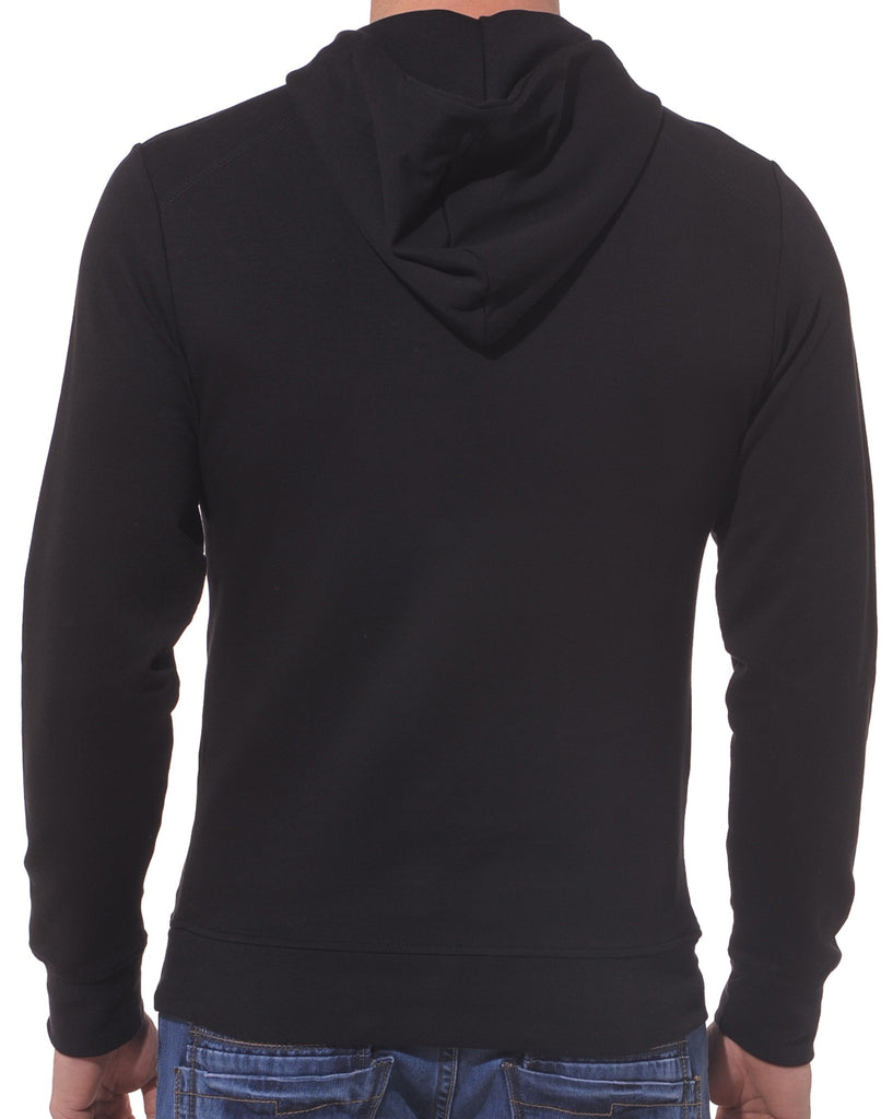 Sweat homme noir fashion à capuche