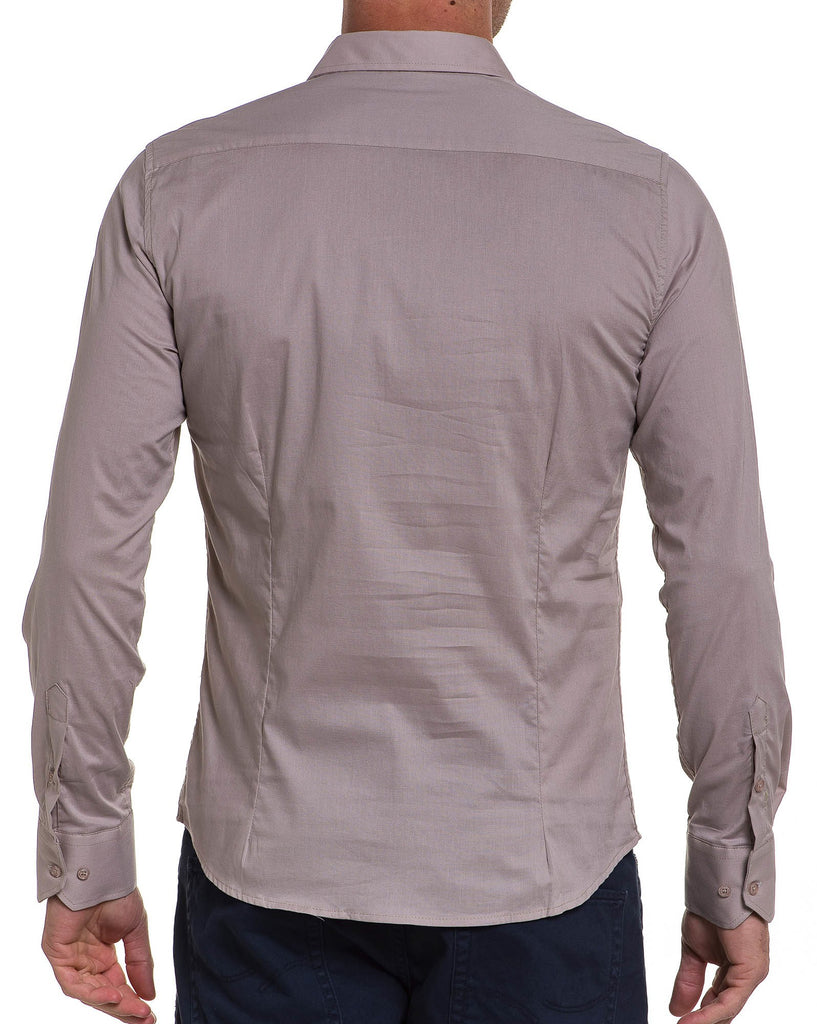 Chemise beige longues manches