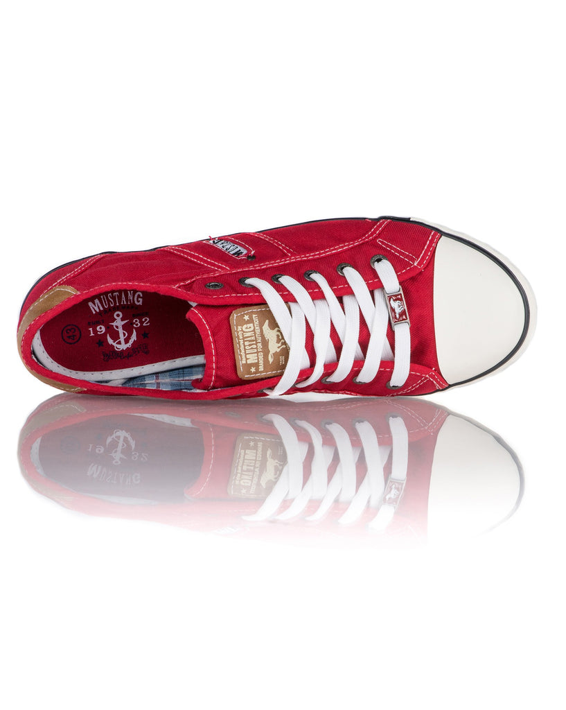Baskets Basses Homme Coloris Rouge