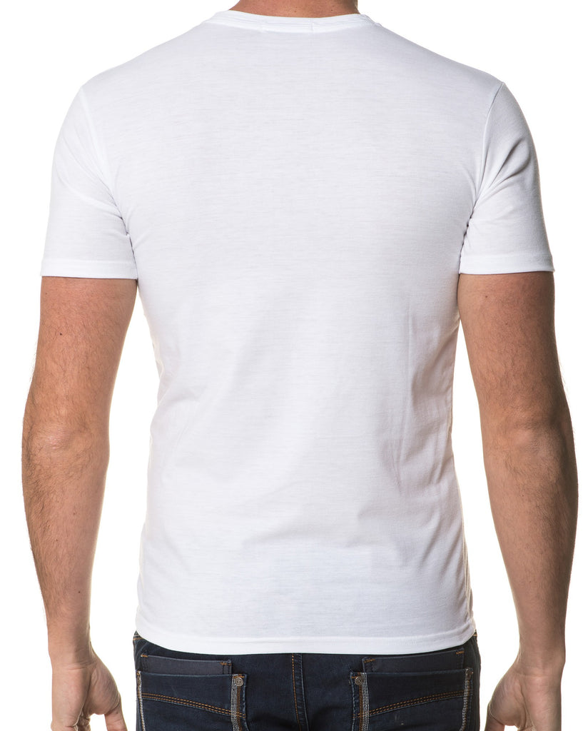 Tee-Shirt Homme Col V Avec Boutons