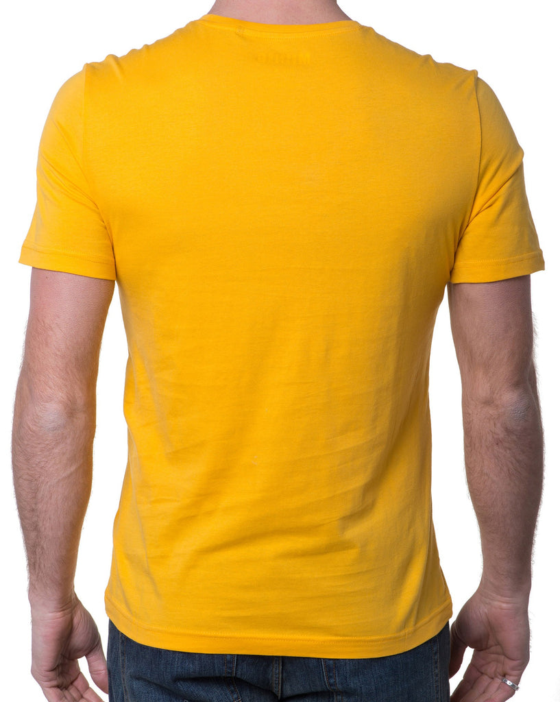 T-shirt Homme Col Rond Jaune