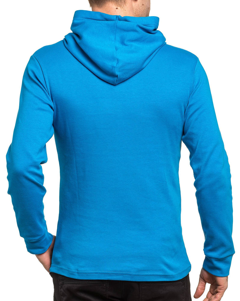 Sweat-shirt homme bleu royal à capuche