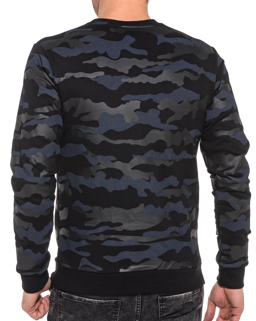 Sweat camouflage navy homme