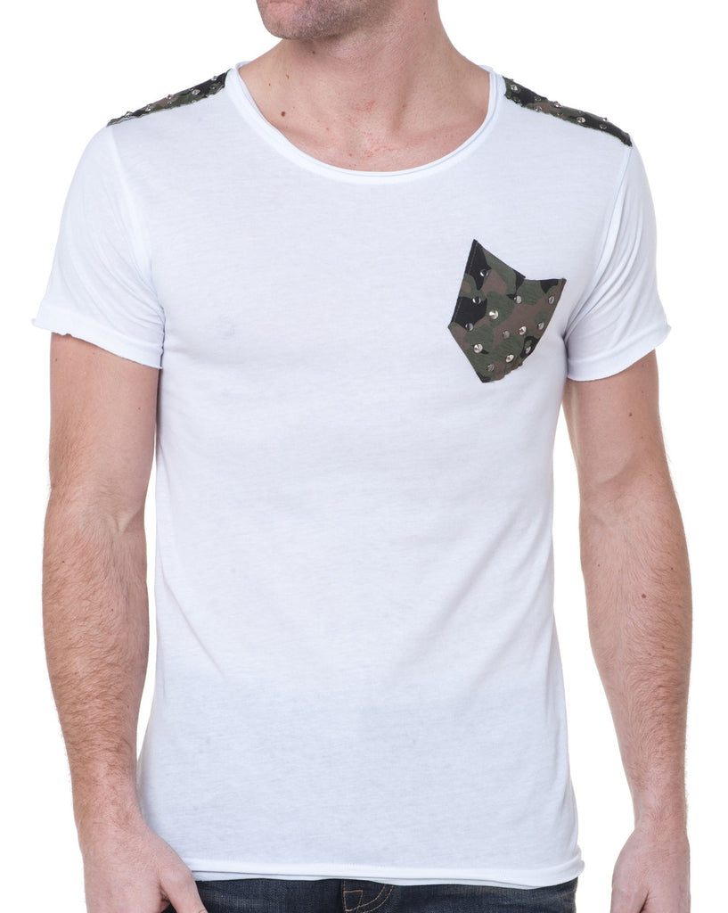 Tee-Shirt Homme Design Camouflage