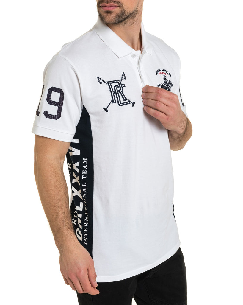 Polo sport blanc coton piqué royal club