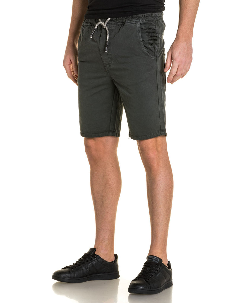 Short homme gris anthracite destroy