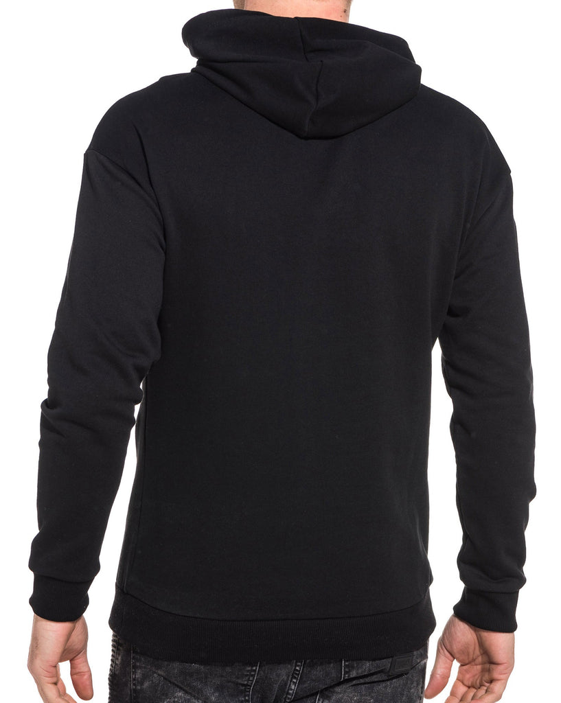 Sweat basic homme noir à capuche
