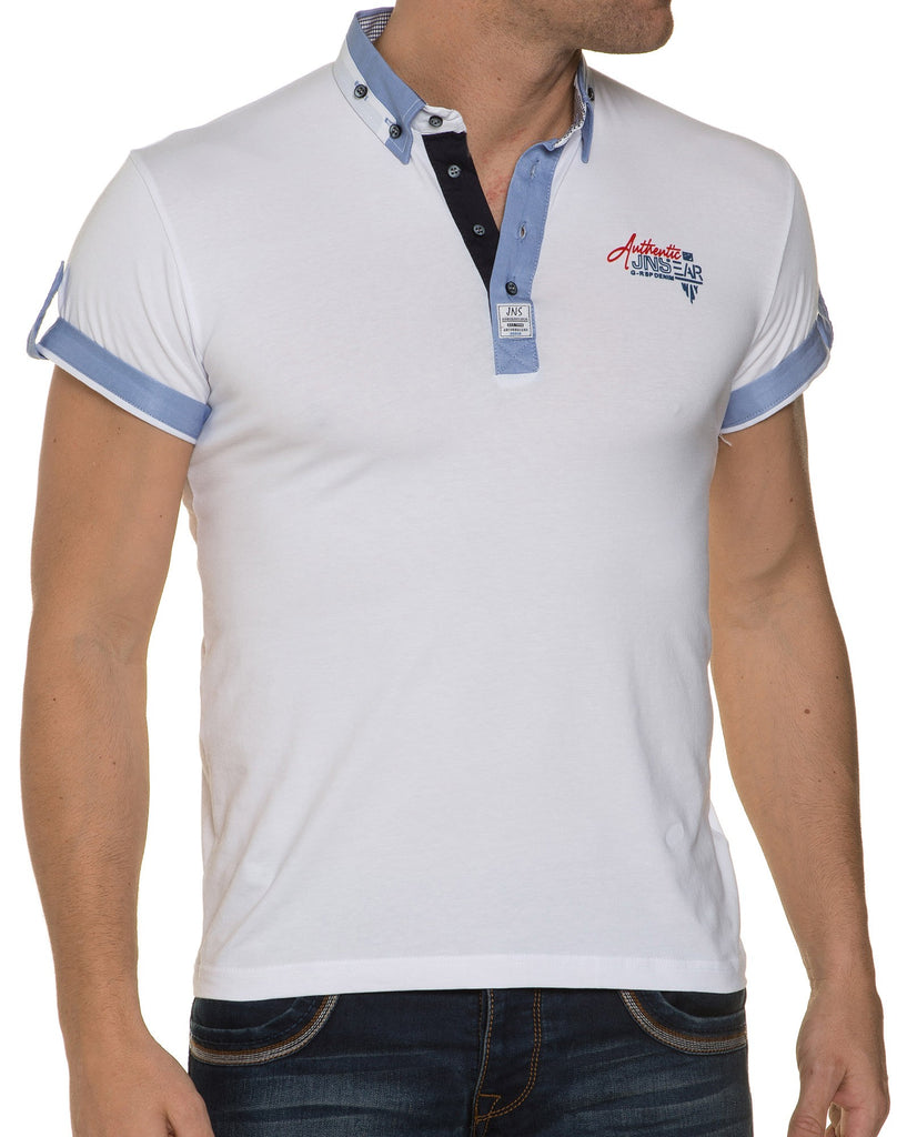 Polo original blanc coupe slim