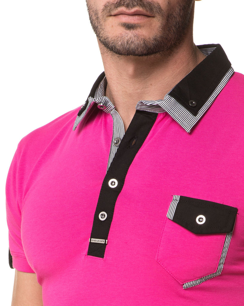 Polo Rose Fashion Pour Homme