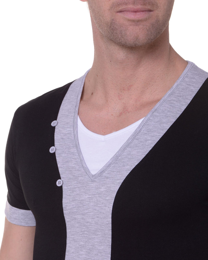 Tee-Shirt Homme Double Col