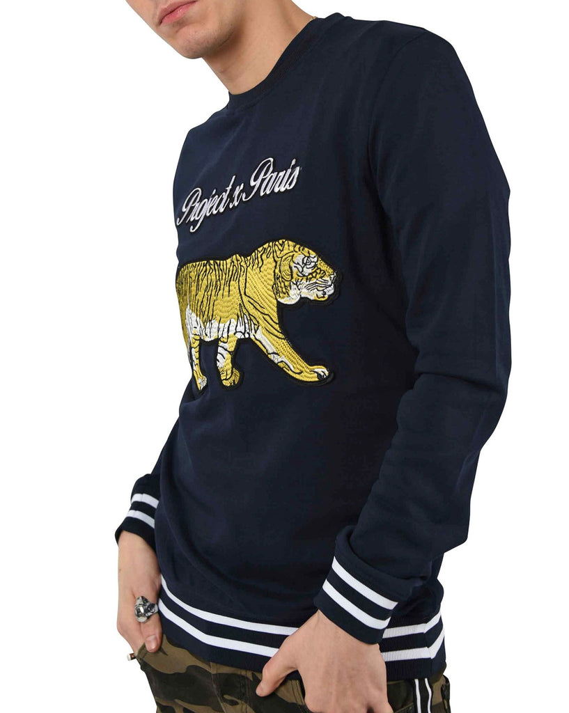 Sweat navy patch tiger