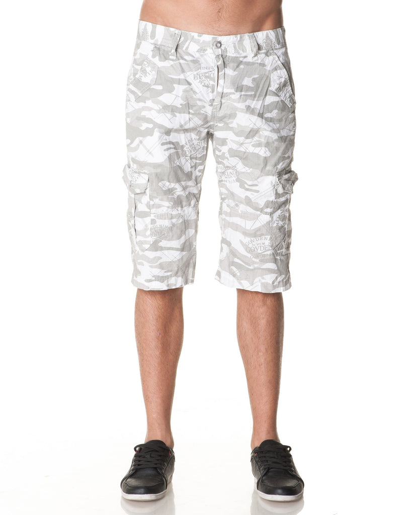Pantacourt Homme Beige Camouflage