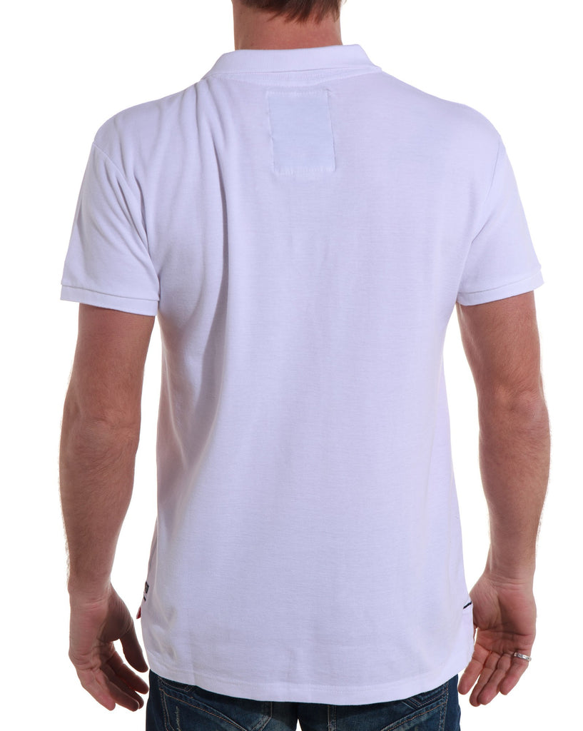 Polo homme blanc broderies tendances