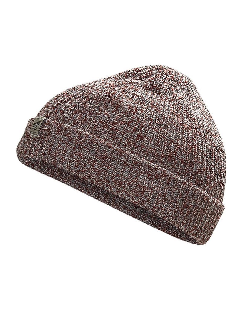 Bonnet fashion homme bordeaux chiné