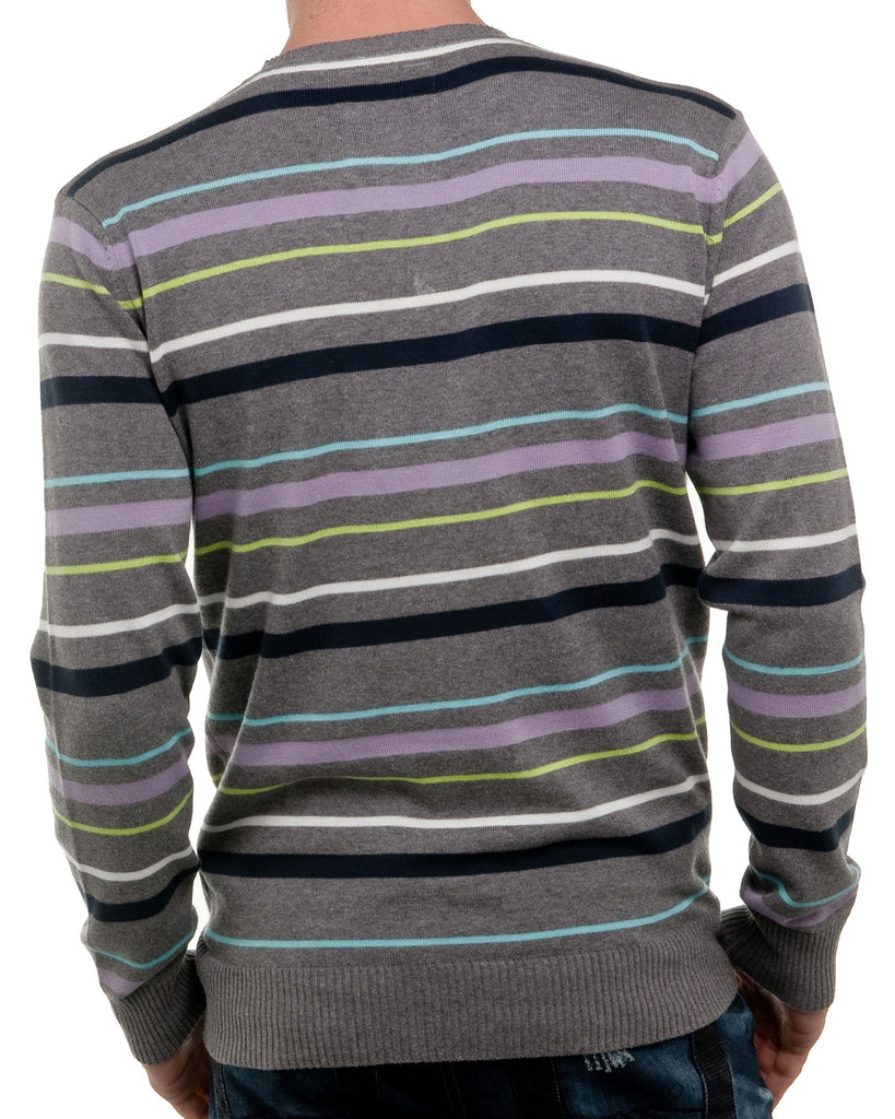 Pull homme rayure