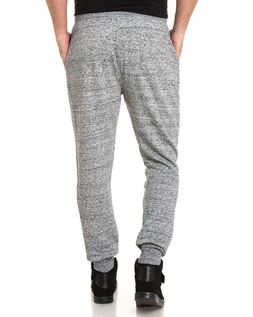 Pantalon jogging gris chiné