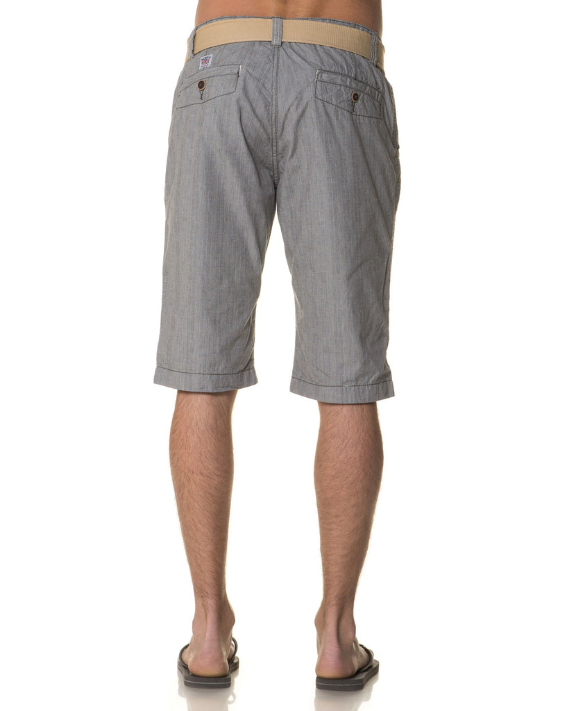 Bermuda Chino Homme Gris A Carreaux