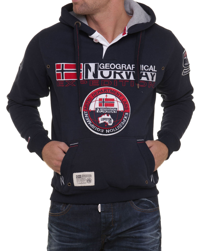 Sweat homme Geographical Norway tendance NAVY