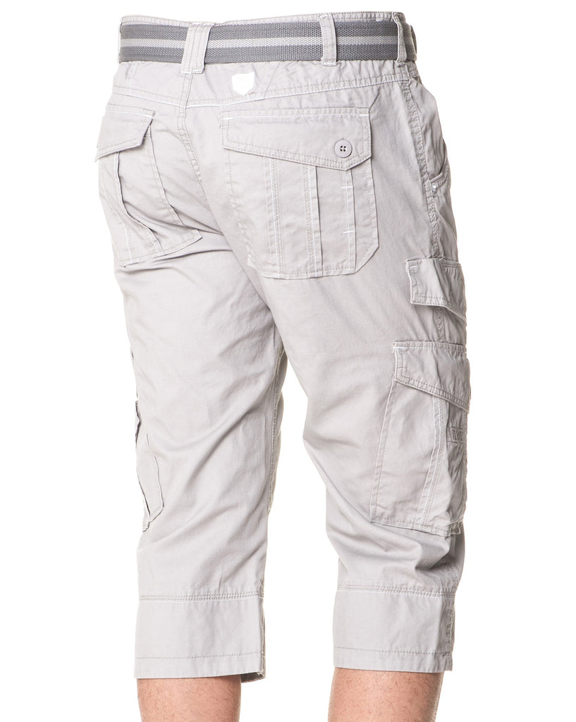 Pantacourt Multipoches Homme Gris
