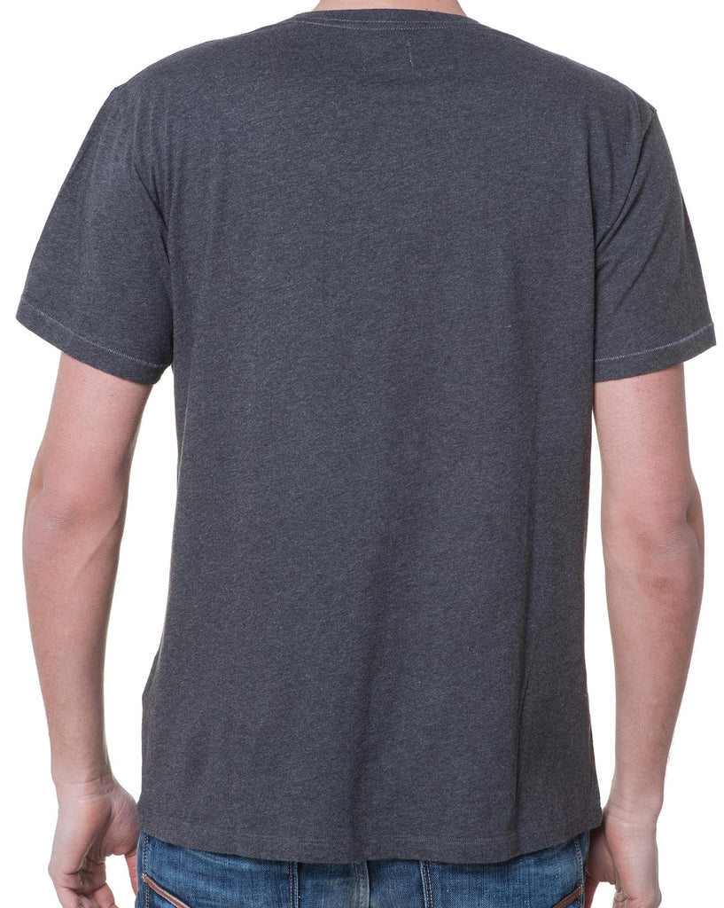 Tee-Shirt Gris Homme Col Rond