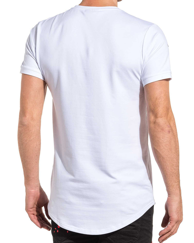 Tee shirt  homme blanc manches courtes