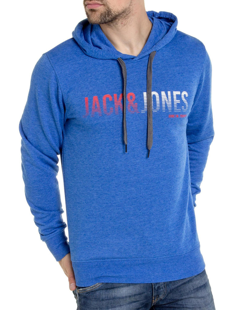Sweat à capuche bleu royal imprimé Jack & Jones