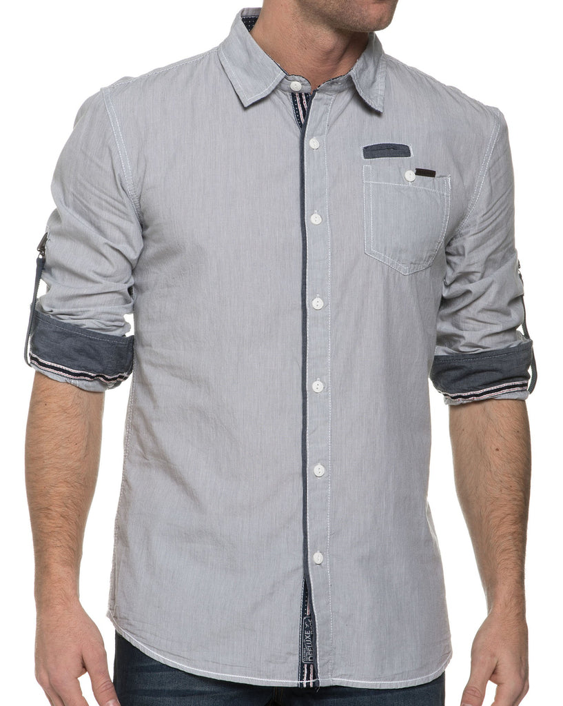 Chemise Homme Grise Avec Rayures