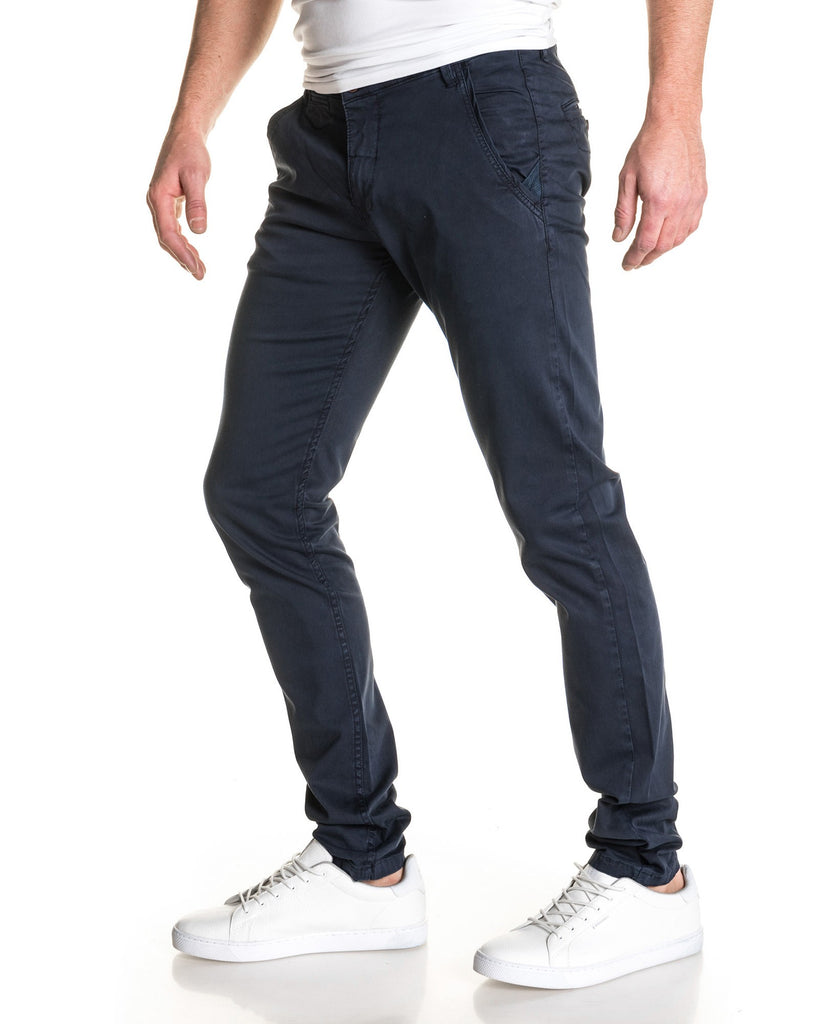 Pantalon chino chic bleu navy